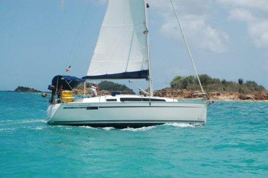 Yacht charter boat Bavaria 33 sailing in Antigua