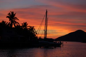 Spectacular sunsets on your sailing charter in Jolly Harbour