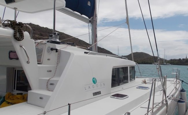 Lagoon 440 catamaran in Antigua