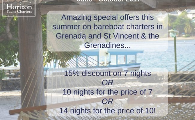 Grenadines Summer 2017 Specials