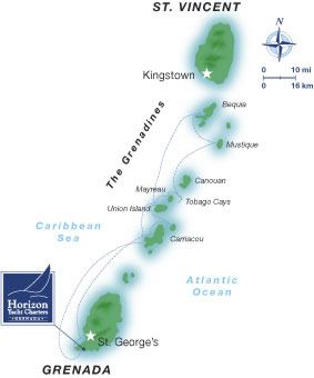 7 Day Itinerary St Vincent to Grenada Horizon Yacht Charters