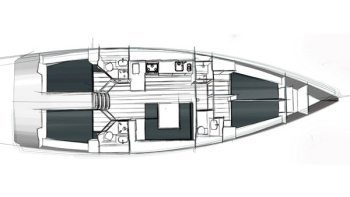 Bavaria Cruiser 45 3 Cabins 3 Heads Layout