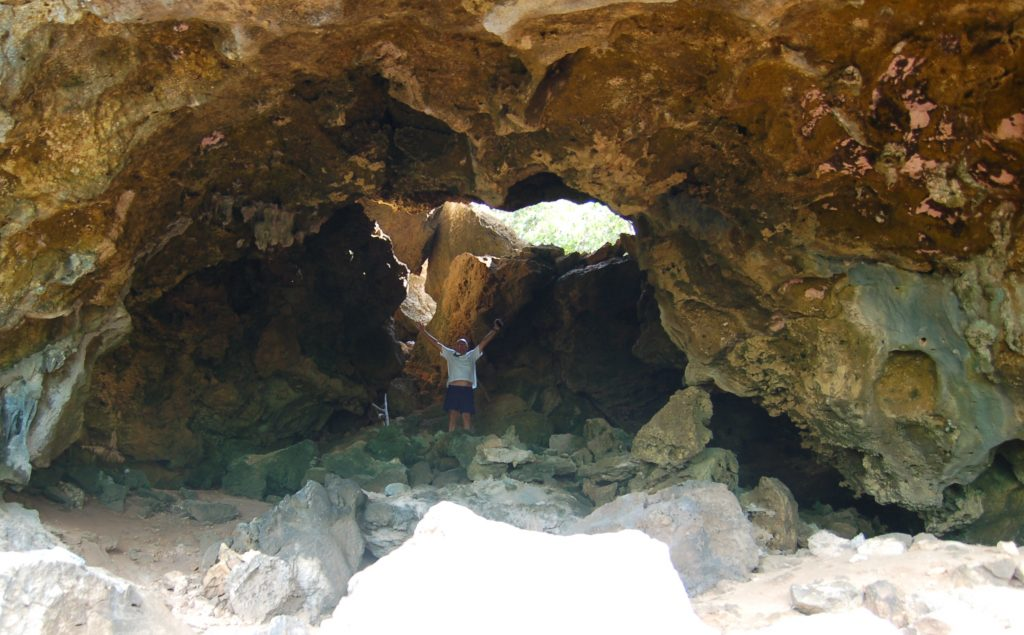 The entrance to the caves on Barbuda