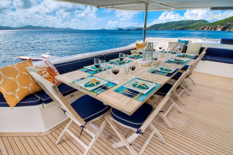 Luxury All-Inclusive Yacht Charters - Dining