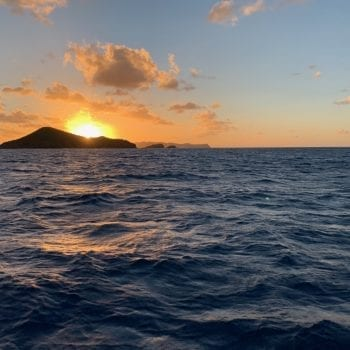 BVI Ocean sunset
