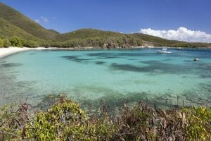 Lameshur Bay in the United States Virgin Islands
